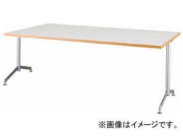 アイリスチトセ リフレッシュテーブル フーク T字脚 1800×750 ホワイト CFKTT1875G-W(7902263)
