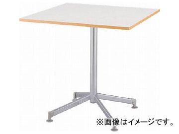 アイリスチトセ リフレッシュテーブル フーク 十字脚 750×750 ホワイト CFKTT7575G-W(7902280)