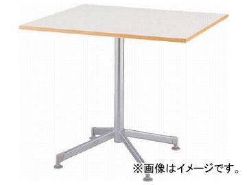 アイリスチトセ リフレッシュテーブル フーク 十字脚 600×750 ホワイト CFKTX6075G-W(7902301)
