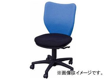 アイリスチトセ オフィスチェア ミドルバックタイプ ブルー・ブラック BIT-BX45-L0-F-BLBK(7902026)