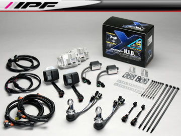IPF SUPER HID X CONVERSION KIT/スーパー HID X コンバージョンキット XD75 6850k H4M Low/High 12v 35W 車検対応 【smtb-F】