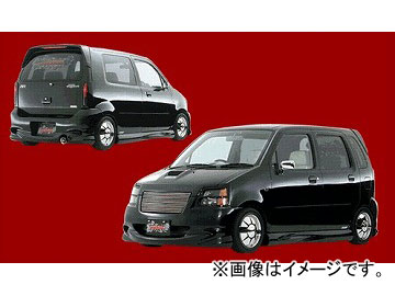 ダムド BLACK×METAL フロントバンパー スズキ ワゴンR MC11S, 21S/12S, 22S