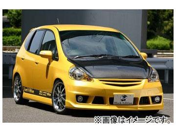 乱人 Black Edition フロントバンパー(フォグランプ&カバー付) ホンダ フィット GD1~4