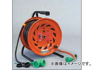 日動工業/NICHIDO 延長コード型ドラム 100V 先端トリプルコンセント部のみ防雨型(屋内型)30mタイプ アース付 EKタイプ RNW-EK30S JAN:4937305002636