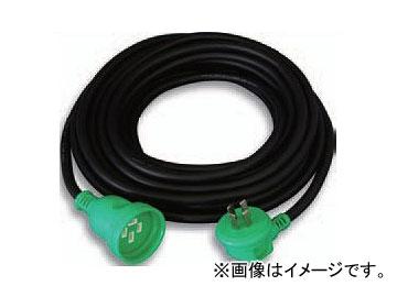 日動工業/NICHIDO 防雨4芯L型プラグ延長コード三相200V(屋外型) アース付 20m 4P20AWL-20 JAN:4937305041000