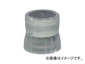 日動工業/NICHIDO 太陽電池一体型LED回転灯 ニコソーラー バッテリー式 マグネットタイプ 白 NS-BW-M JAN:4937305042595