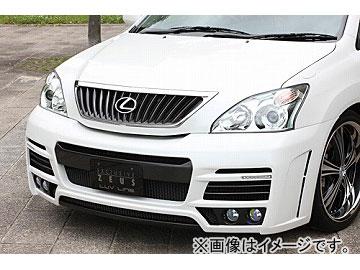 エムズスピード LUV LINE フロントバンパースポイラー バージョン2 未塗装 トヨタ ハリアー MCU3/ACU3
