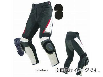2輪 コミネ/KOMINE PK-717 スポーツライディングレザーメッシュパンツ 07-717 アイボリー/ブラック サイズ:S~4XL