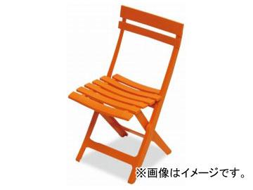 テラモト/TERAMOTO マイアミフォールディングチェア 5.オレンジ MZ-594-100