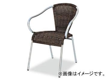 テラモト/TERAMOTO グラシアアームチェア 4.ダークブラウン MZ-598-100