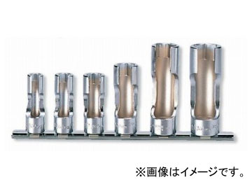 """コーケン/Koken 3/8""""(9.5mm) フレアナットソケット レールセット 6ヶ組 RS3300FN/6"""