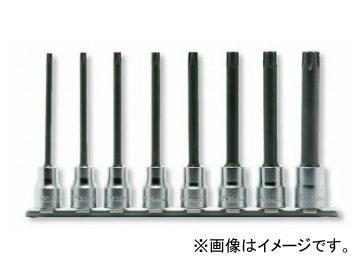 """コーケン/Koken 3/8""""(9.5mm) トルクスビットソケット(丸軸) レールセット 8ヶ組 RS3025/8-L100R"""