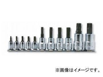 """コーケン/Koken 3/8""""(9.5mm) トルクスプラスビットソケット レールセット 11ヶ組 RSX025/11-IP"""