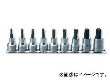 """コーケン/Koken 1/2""""(12.7mm) トルクスビットソケット レールセット 9ヶ組 RS4025/9-L60"""