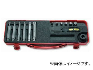 """コーケン/Koken 1/2""""(12.7mm) トルクスビットソケットセット 14ヶ組 14204T"""