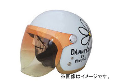 2輪 ダムトラックス/DAMMTRAX フラワージェット パールホワイト レディースフリー(57cm~58cm) JAN:4580184031084