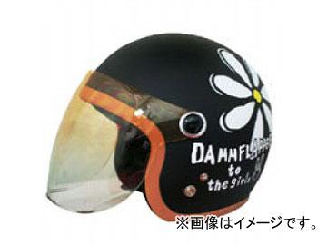 2輪 ダムトラックス/DAMMTRAX フラワージェット マットブラック レディースフリー(57cm~58cm) JAN:4580184031237