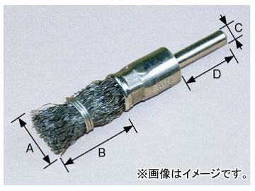 柳瀬/YANASE 軸付エンドブラシ 鋼線 25×35×6×25 BKE-25 入数:10個