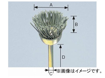 柳瀬/YANASE 精密ブラシ 砥粒入りユニロン カップ型 14×8×3×40 B14CK 入数:10個