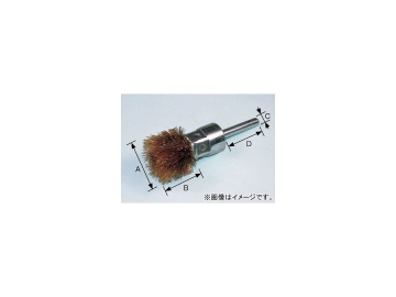 柳瀬/YANASE 軸付アザミ型ブラシ 鋼線メッキ 50×25×6×50 BKMA-50 入数:10個