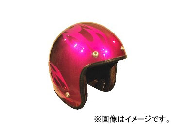 2輪 72JAM JET HELMET ジェットヘルメット JAM CUSTOM PAINTING JCP BURNS PK/BK JCP-03 JAN:4562286790168