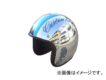 2輪 72JAM JET HELMET ジェットヘルメット JAM CUSTOM PAINTING JCP CHROMES CM/BL JCP-08 JAN:4562286790229