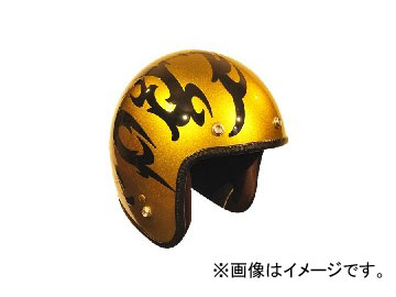 2輪 72JAM JET HELMET ジェットヘルメット JAM CUSTOM PAINTING TRIBAL GD JCP-23 JAN:4562286790373