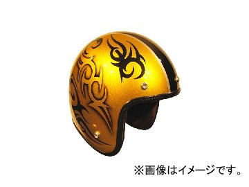 2輪 72JAM JET HELMET ジェットヘルメット JAM CUSTOM PAINTING TRIBAL GD/BK JCP-26 JAN:4562286790403