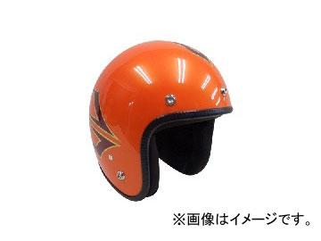 2輪 72JAM JET HELMET ジェットヘルメット JAM CUSTOM PAINTING JCP SPINDLE SO(サンセットオレンジ) JCP-37 JAN:4562286790724