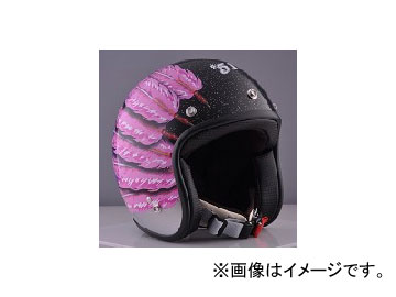 2輪 72JAM JET HELMET ジェットヘルメット JAM CUSTOM PAINTING Ladies&Kids Feather JET Pink IWL-04 JAN:4562286791035