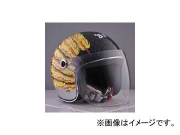 2輪 72JAM JET HELMET ジェットヘルメット JAM CUSTOM PAINTING Ladies&Kids Feather JET Yellow IWK-05 JAN:4562286791042
