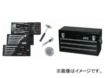 KTC 工具セット(チェストタイプ)[66点組] ソリッドブラック SK3650XBK
