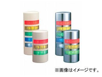 パトライト シグナル・タワー ウォールマウント 薄型LED壁面取付け積層信号灯 ライトグレー仕様 ブザー付き 4段 WEP-402FB