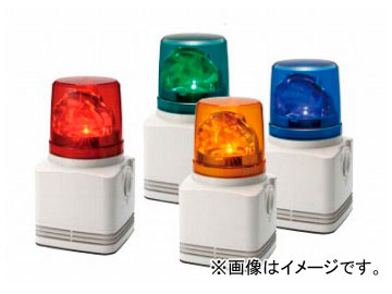 パトライト シグナルボイス MP3音声合成内蔵LED回転灯 赤/黄 RFV-220F