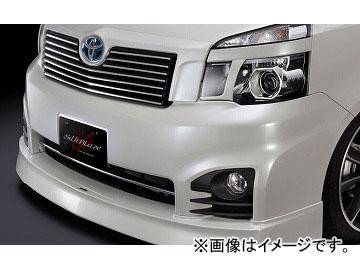 シルクブレイズ ミニバンFT フロントハーフスポイラー version.2 純正色(ソリッドカラー/ブラック[202]) トヨタ ヴォクシー ZRR70/75W ZS/Z 後期 2010年04月~2014年12月