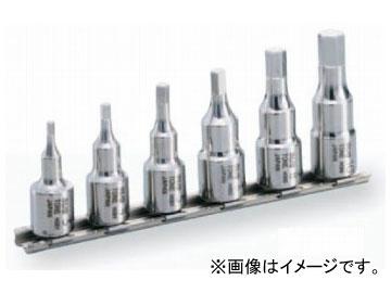 """トネ/TONE 9.5mm(3/8"""") SUSヘキサゴンソケットセット(ホルダー付) 6点 品番:SHH306"""