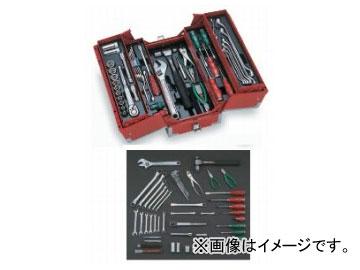 お歳暮 マットブラック トネ/TONE 品番:TSA4331BK:オートパーツエージェンシー2号店 全56点 ツールセット-DIY・工具