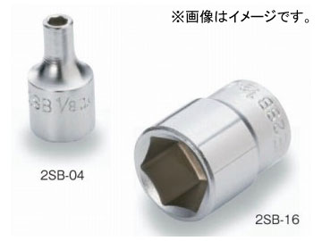 """トネ 即納 TONE ファクトリーアウトレット 6.35mm 1 6角 ソケット 4"""" 品番:2SB-09"""