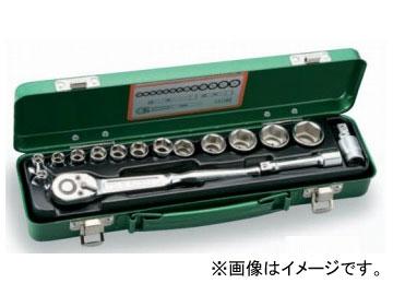 """トネ/TONE 9.5mm(3/8"""") ソケットレンチセット 17点 品番:1560MS"""