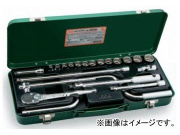 """トネ/TONE 9.5mm(3/8"""") ソケットレンチセット 21点 品番:1500"""