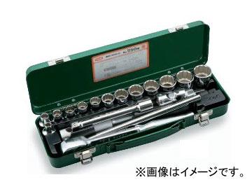 """トネ/TONE 12.7mm(1/2"""") ソケットレンチセット 18点 品番:750M"""