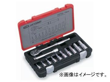 """トネ/TONE 12.7mm(1/2"""") ヘキサゴンソケットレンチセット 12点 品番:H4100MP"""