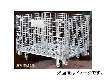 123/伊藤製作所 かご型パレット L型 キャスター付 PM-LC