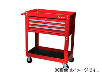 スエカゲツール Pro-Auto 3段引出しベアリング式プロユースサービスカート No.ST-0002 JAN:4989530680097