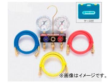 タスコジャパン ボールバルブ式ゲージマニホールドキット TA124WH-2
