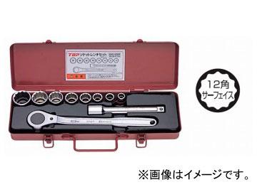 トップ工業/TOP ソケットレンチセット(差込角12.7mm) SWS-408S JAN:4975180780423