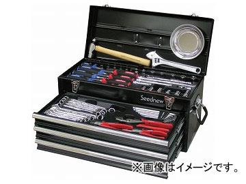Seednew/シードニュー 59PC 9.5角工具セット 黒 S-59310BL