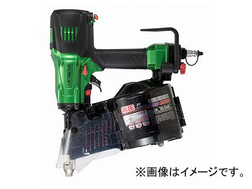 日立工機 高圧ロール釘打機 メタリックグリーン NV90HR(L)