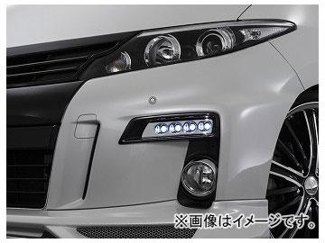 アドミレイション デポルテ LEDスポットKIT 4連 塗装済(ブラック202) LED球色:ホワイト,ブルー トヨタ エスティマ GSR/ACR50・55/AHR20W 後期 2012年05月~