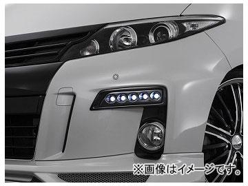 アドミレイション デポルテ LEDスポットKIT 5連 塗装済(ブラック202) LED球色:ホワイト,ブルー トヨタ エスティマ GSR/ACR50・55/AHR20W 後期 2012年05月~